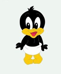 卡通动物插画-可爱的小鸭