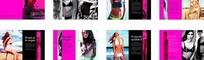粉红色女性内衣宣传画册