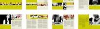 黄色的女性内衣宣传画册