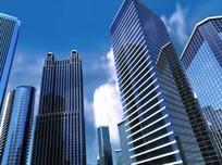 快速扫视的现代城市高楼