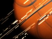 划过画面的金色篮球