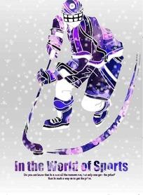 卡通体育运动 冰球