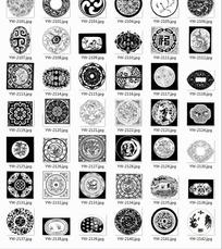 福字梅花卷纹等古典图案