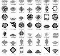 中国古典 中国结边角装饰纹等图案