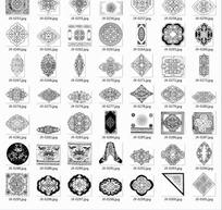 中国古典中国结装饰纹等图案