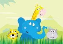 卡通插画——可爱的小动物