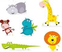 卡通动物插画  卡通野生动物插画