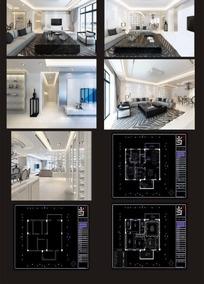 三室两厅家居室内装修效果图