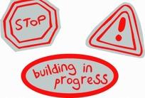红色边框的交通标志图案