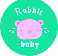 卡通动物插画-绿色圆形的小猪头像