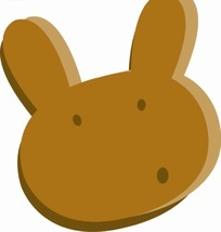 卡通动物插画-小白兔头像