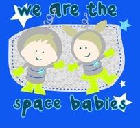 矢量卡通插画-蓝色背景跳舞的小男孩和小女孩