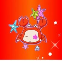 卡通星座巨蟹座李恩成《双鱼座》图片