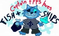 卡通动物  拿着小船戴着帽子的小猫