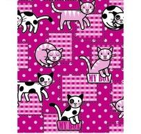 粉色底的圆点和格子以及卡通猫咪底纹