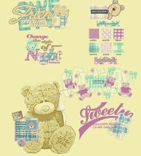 卡通小熊英文字母笔记本封面
