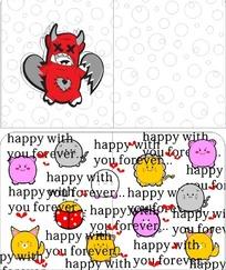 卡通小猪小猫瓢虫笔记本封面
