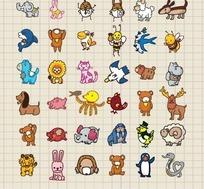 卡通动物笔记本封面