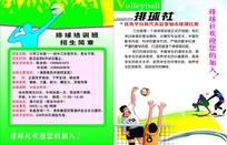 学校排球社团招新DM单