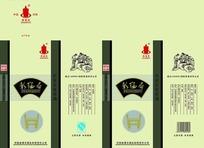 河南彰德府名酒礼盒包装设计PSD素材