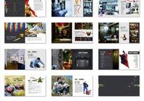 一套简洁的艺龙装饰公司画册设计PSD分层素材