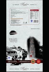 中国风食品包装PSD分层