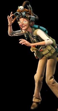 森林战士海报--外国探险男人