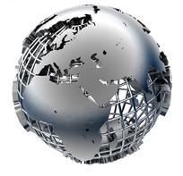 金属立体地球
