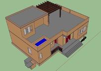 农村自建房CAD三维