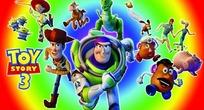 动漫人物—渐变背景前的玩具总动员3人物psd素材