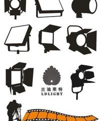 LED摄影灯矢量图标