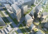 城市区域规划图鸟瞰