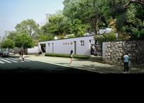 乐坪公园墙面和道路效果图psd素材