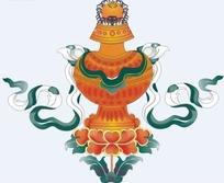 西藏吉祥八宝矢量图