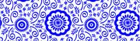 青花瓷花纹背景