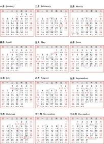 免费2014年农历甲午年台历表设计