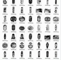 中国传统花纹矢量图案