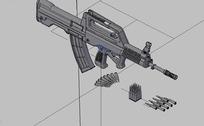 95式步枪dwg模型图纸