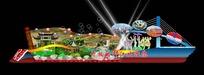 旅游胜地展台效果图设计