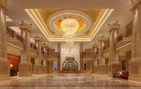 欧式酒店大堂图片