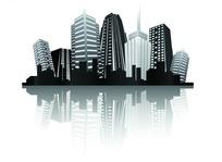城市高楼大厦剪影