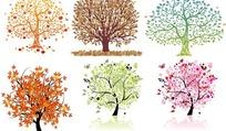 6款矢量艺术树素材