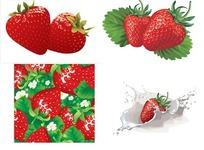 矢量草莓素材