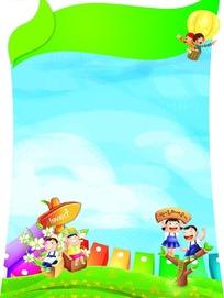 儿童卡通素材背景
