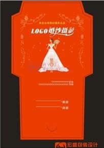 喜庆大红色婚庆光盘封套