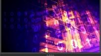 蓝紫色数字线条科技感视频