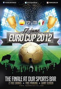 足球世界杯海报传单