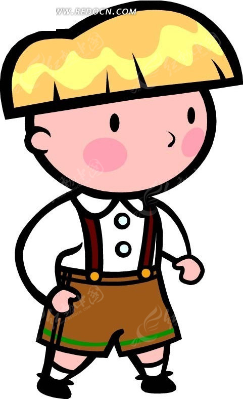 黄头发的男孩卡通画