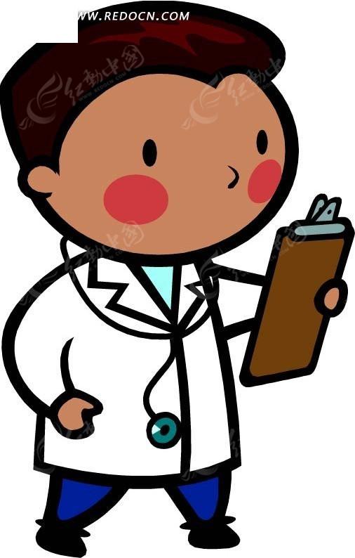 看书的医生卡通画