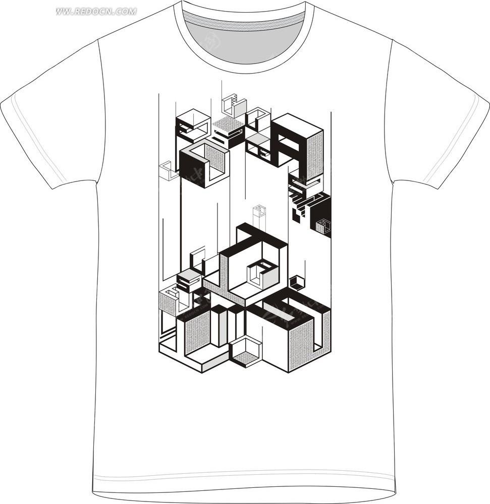 立体字母t恤印花图案